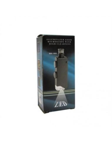Microscope/loupe de poche à LED - grossissement 60 à 100