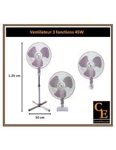 VENTILATEUR  CORNWALL - 40CM / 45W (F125)