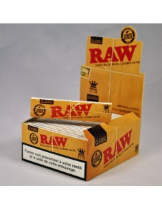 Feuilles à rouler RAW Slim non blanchies - Boîte de 50 carnets
