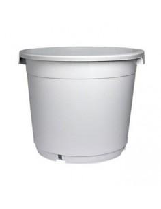 Pot rond à poignées blanc - 40L