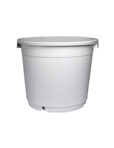 Pot rond à poignées noir 40x37x33cm - 30L